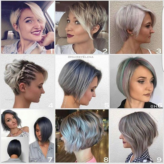 9 different photo of @rachelchapogas all looks created , colored and cut by @hairbyelena  Pick your favorites , remember you can zoom now so peak away