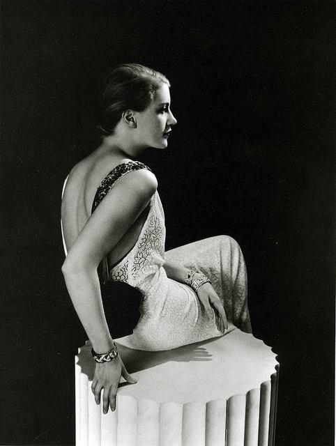 Lee Miller in a gown by Jeanne Lanvin, photo by George Hoyningen-Huene, 1931