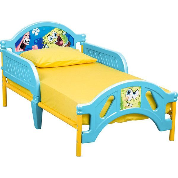 Delta Nickelodeon Spongebob Toddler Bed Blue ($90) ❤ liked on Polyvore featuring home, children's room, children's furniture and blue #childrenfurniture
