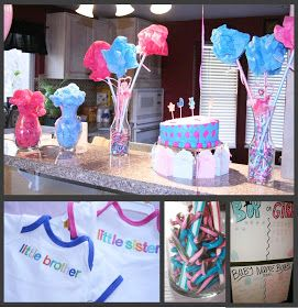 Momma Maven: Pink & Blue Baby Party, the gender reveal pics!