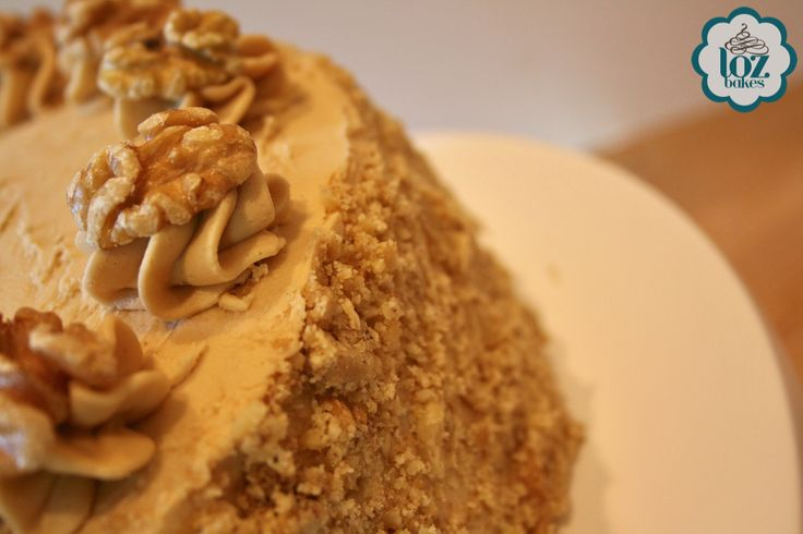 Luscious Coffee & Walnut cake
