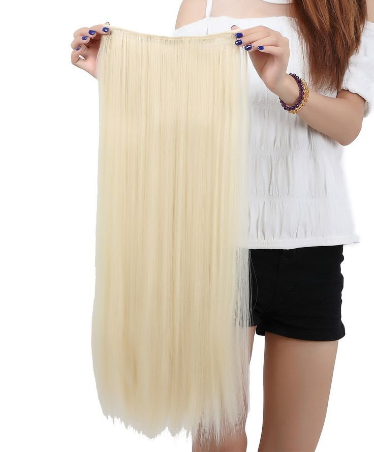 LAY Popular Long Straight 30(76cm) Bleach Blonde One Piece 5 Clips Clip in Hair Extension Extensios Half Full Head Hair Piece *** This is an Amazon Affiliate link. For more information, visit image link.