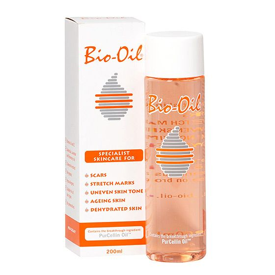 To help maintain skin's elasticity, Kate rubs Bio-Oil and its botanical blend of rosemary and lavender on her belly during and after pregnancy.