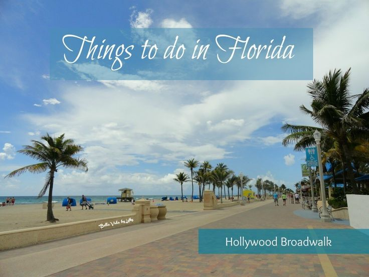 Things to do in Florida at Hollywood Beach Broadwalk