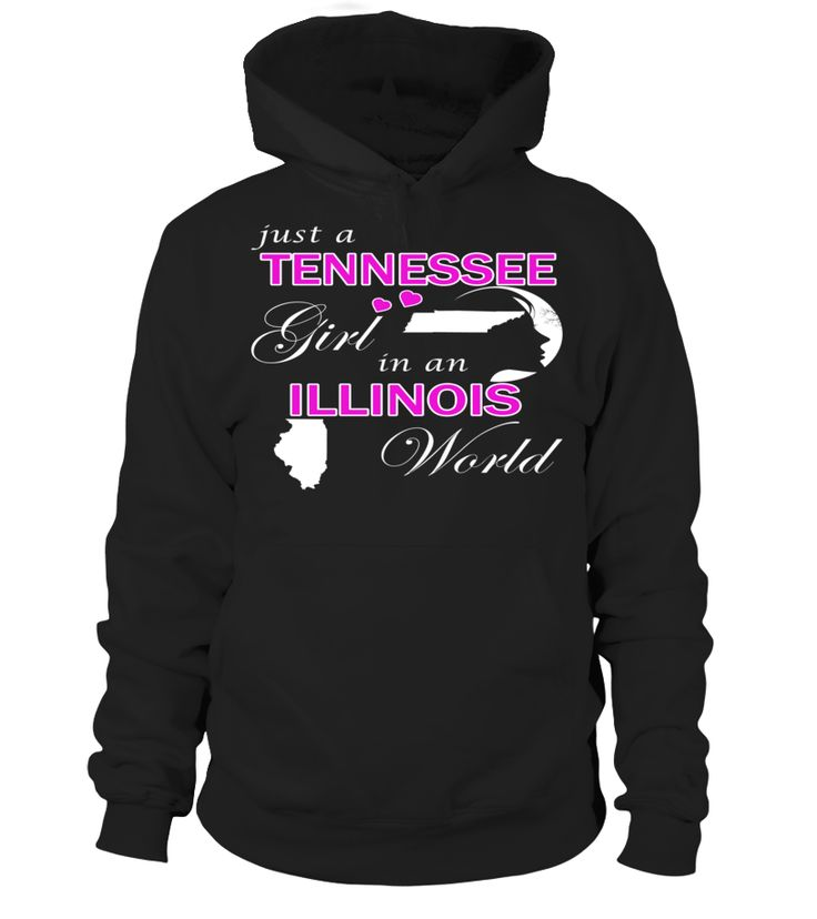Just a Tennessee Girl in an Illinois World State T-Shirt #TennesseeGirl