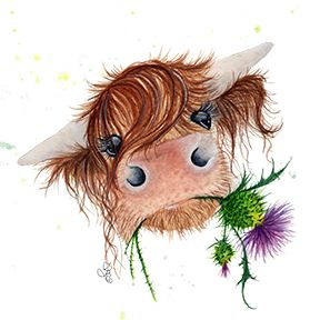 Thistle McMoo by #Fiona Bárcenas, Art Close To Your Heart