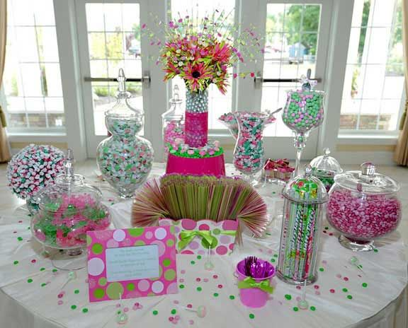 pictures of wedding candy table ideas picture