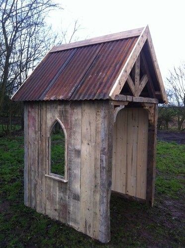Hand Made Log Store Garden Folly Gardens Trees and eBay