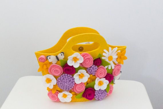 Spring flowers explosion purse with magnetic clasp. From Babes in the Woods. Available to buy on Etsy.com