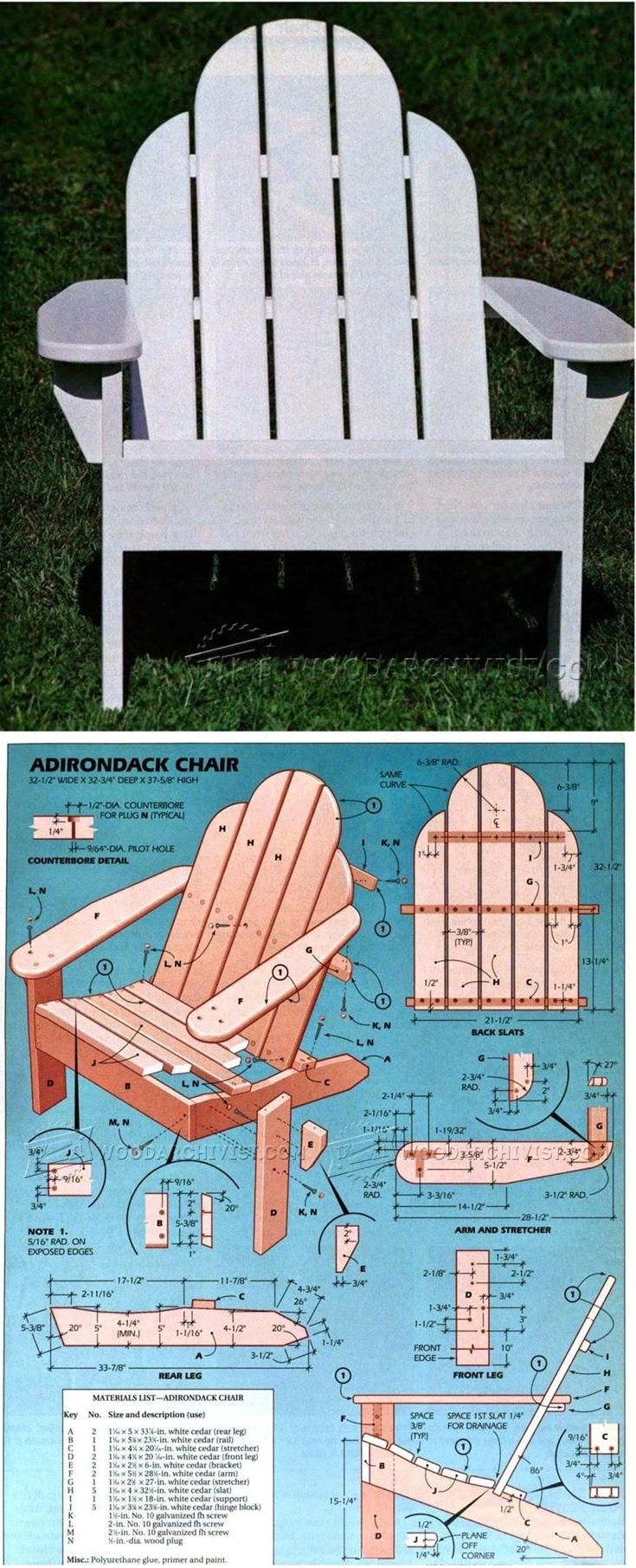 Best 25+ Adirondack chair plans ideas on Pinterest | Adirondack ...