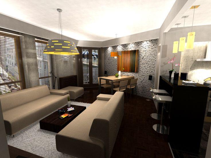 Nappali - látványterv / Living room - visualization