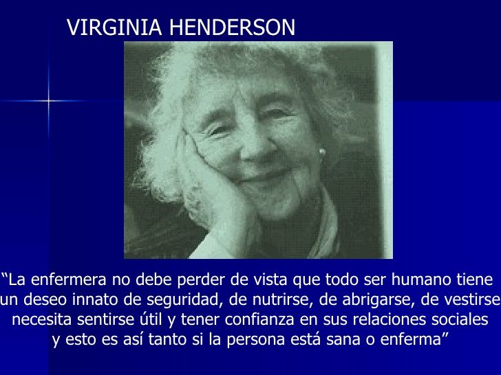 the life of virginia henderson essay Edited by eleanor krohn hermann, rn, edd, faan, the virginia henderson festschrift is a collection of essays about ms henderson that addresses three major themes of her life: scholarship, leadership and humanitarianism.