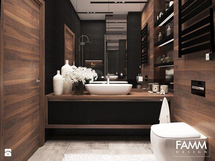 ELEGANCJA W WERSJI MINI - Mała łazienka w bloku bez okna, styl nowoczesny - zdjęcie od FAMM DESIGN