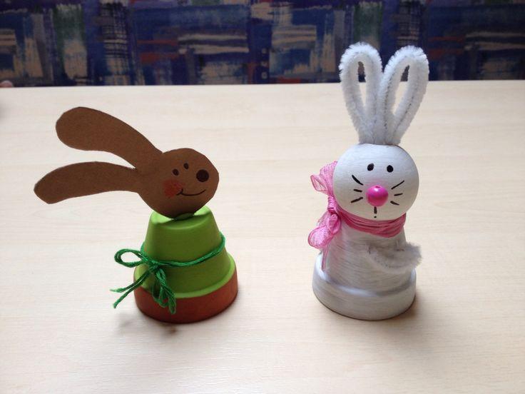 Ostern Dekoration Hasen Tont Pfe Kinderbasteleien
