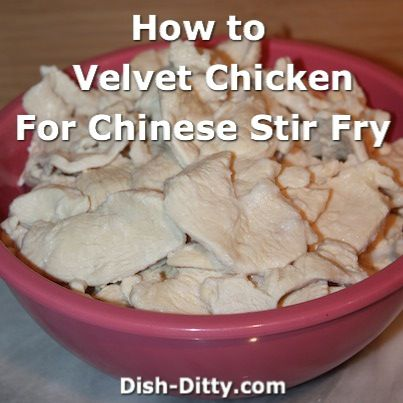 Velveting Chicken for Chinese Stir-Fry | What is velveting chicken? It's a process where you pre-cook marinated chicken so that when you use it in your stir fry recipes, it is tender, juicy and not over cooked or dried out.