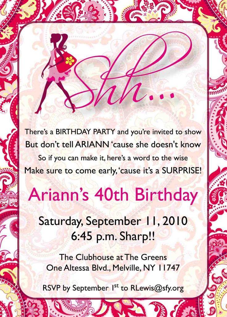 Best 25+ Birthday party invitation wording ideas on Pinterest ...