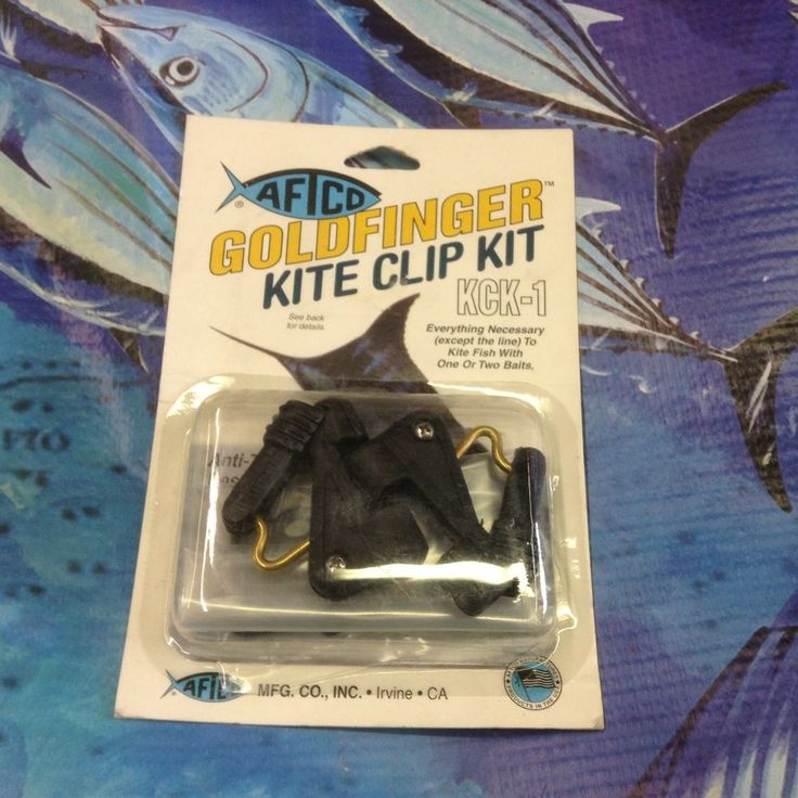 AFTCO GOLDFINGER KITE CLIP KIT KCK-1. USA fishing boat hardware #AFTCO