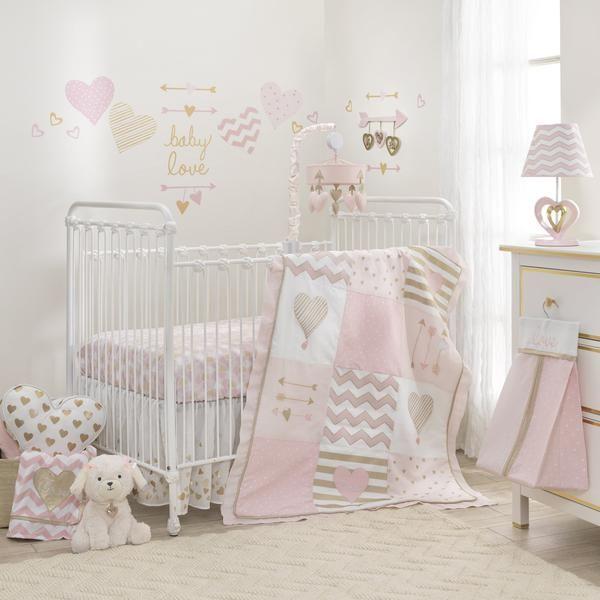 Baby Love 6 Piece Crib Bedding Set Crib Bedding Girl Girl Crib Bedding Sets Baby Crib Bedding