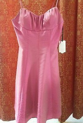 Vestito abito elegante donna fuxia matrimonio cerimonia damigella testimone galà