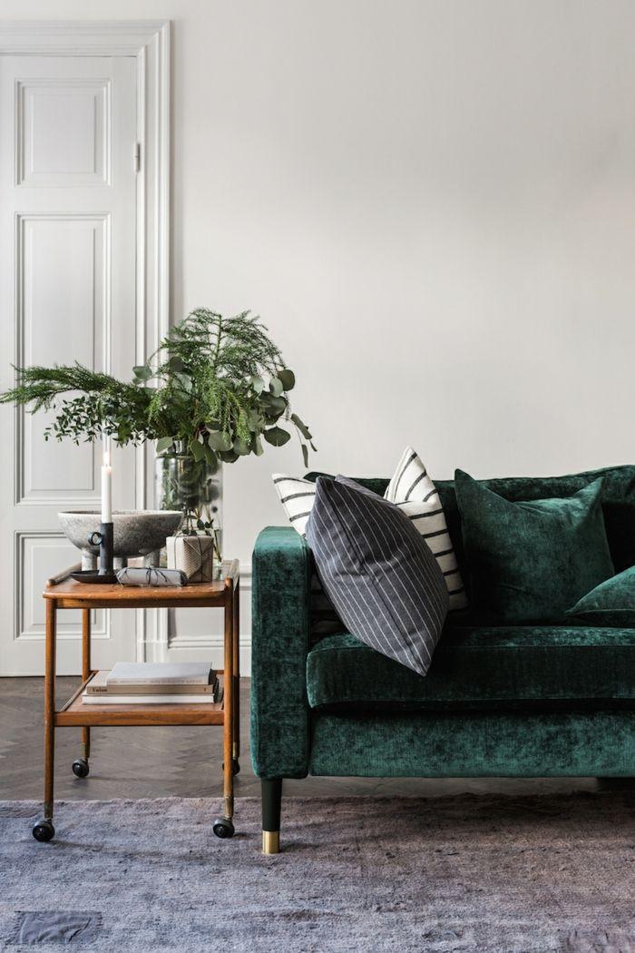 Canapé velours : idées pour un salon chaleureux et cocooning ...