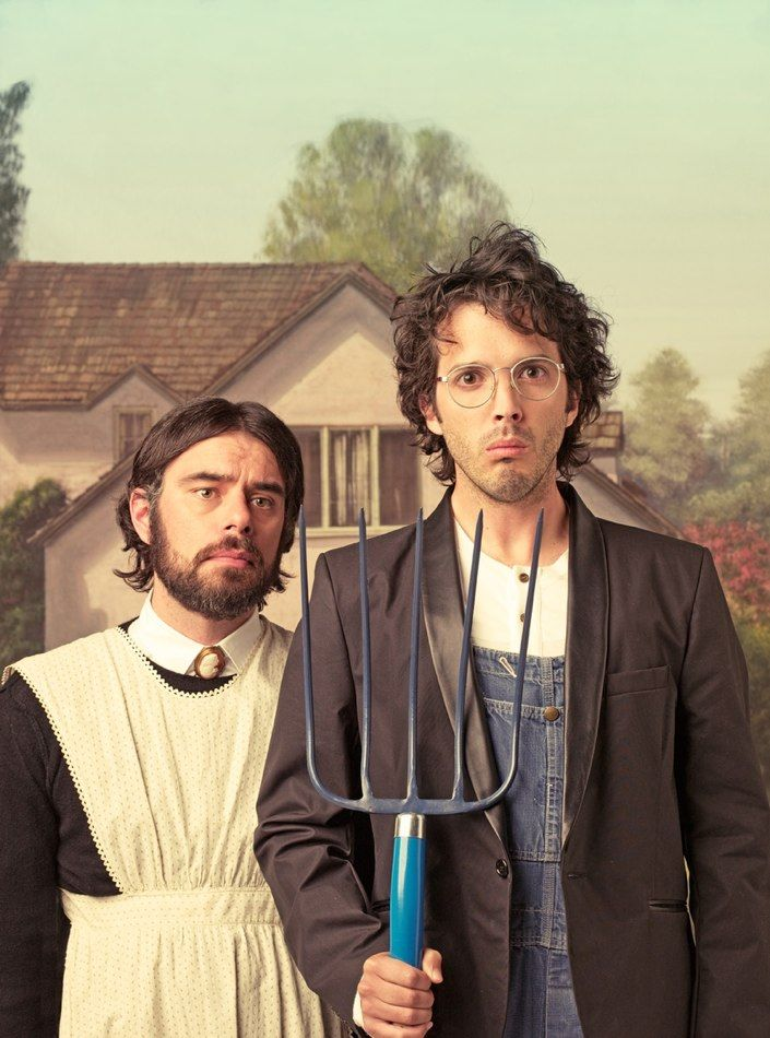 Flight of the Conchords: Flight, Michael Muller, Art, Funny, Favorite, People, American Gothic