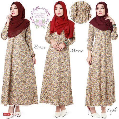 Yuliania Flowery Longsleeve Muslim Dress