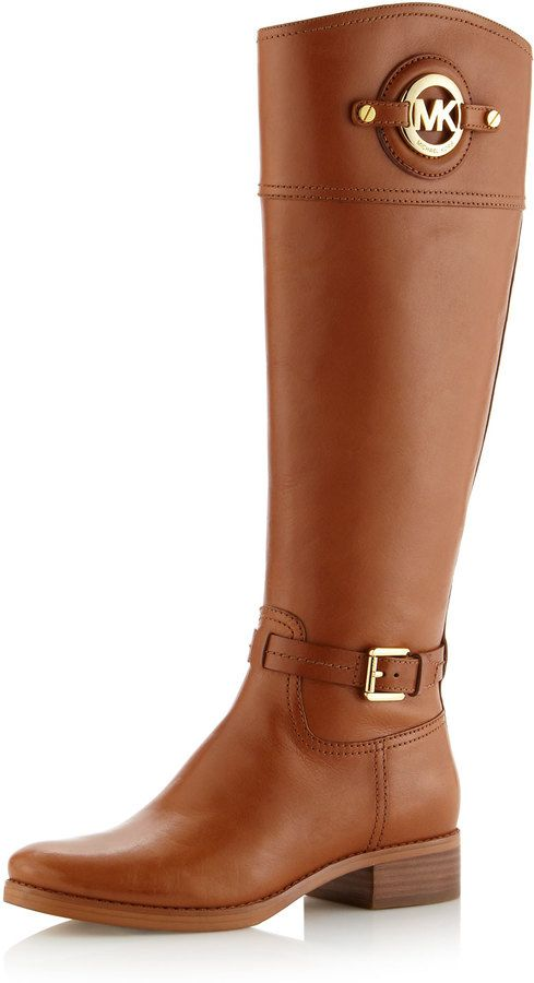 Lusting after theseMichael Kors Stockard Leather Riding boots, giddyup