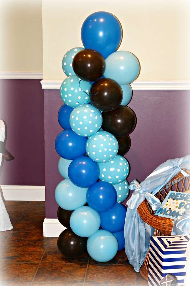 Blue and brown teddy bears Baby Shower Party Ideas | Photo 4 of 27 | Catch My Party
