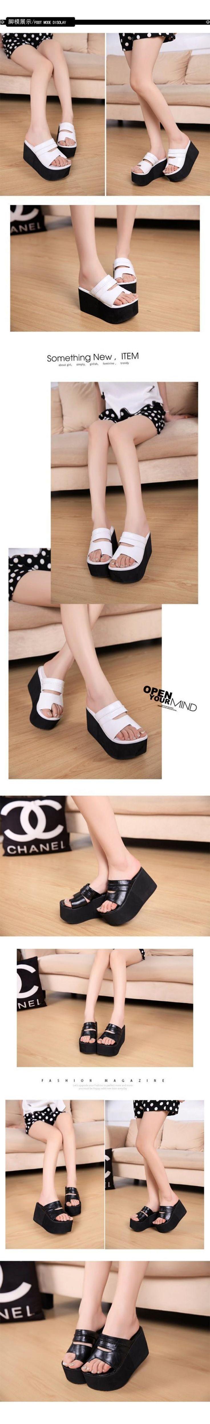 Summer new arrival 2016 flip flops platform wedges sandals women foot ping beach slippers womens shoes sandals