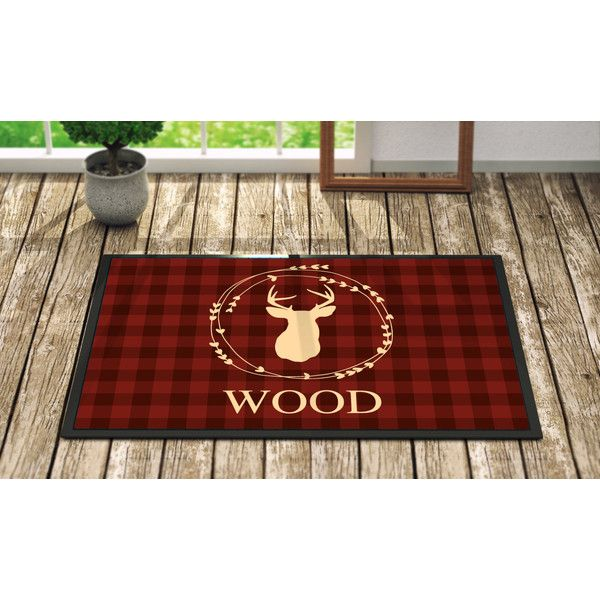 Personalized Door Mat Maroon Gingham Deer Fall Home Decor Monogrammed... ($39) ❤ liked on Polyvore featuring home, outdoors, outdoor decor, grey, home & living, outdoor & gardening, outdoor doormats, outdoor rubber mats, welcome door mats and rubber door mats