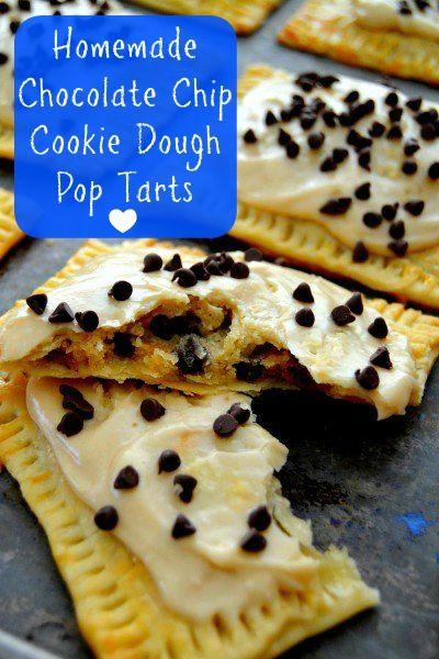 Homemade Chocolate Chip Cookie Dough Pop Tarts