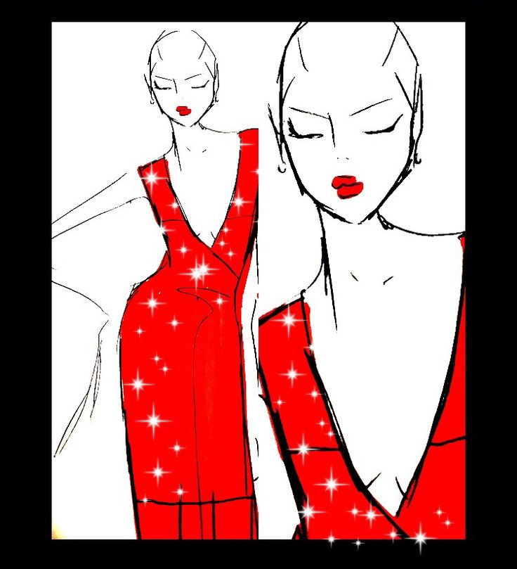 #fashionillustration #sydney #couture #reddress s