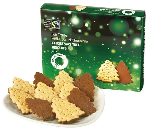 Oxfam Christmas Trees: Traidcraft Christmas Tree Biscuits