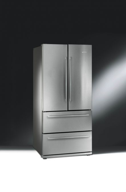 LOOOOVE this fridge/freezer idea for a galley kitchen - you get a wide fridge but the doors don't take up that much space! SMEG LAUNCHES NEW 2 DOOR & 2 DRAWER FRIDGE