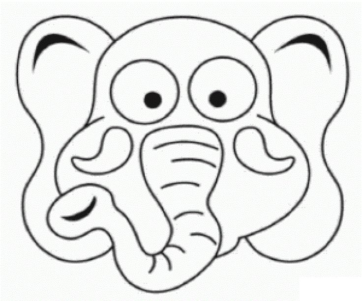 elephant coloring pages for kids preschool crafts