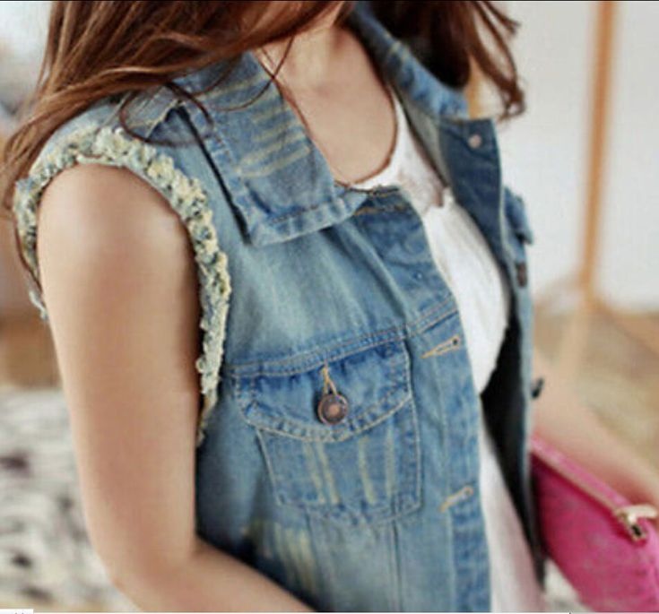 Womens Vests Short Denim Sleeveless Jean Jackets Waistcoat Ourwear Plus Sz