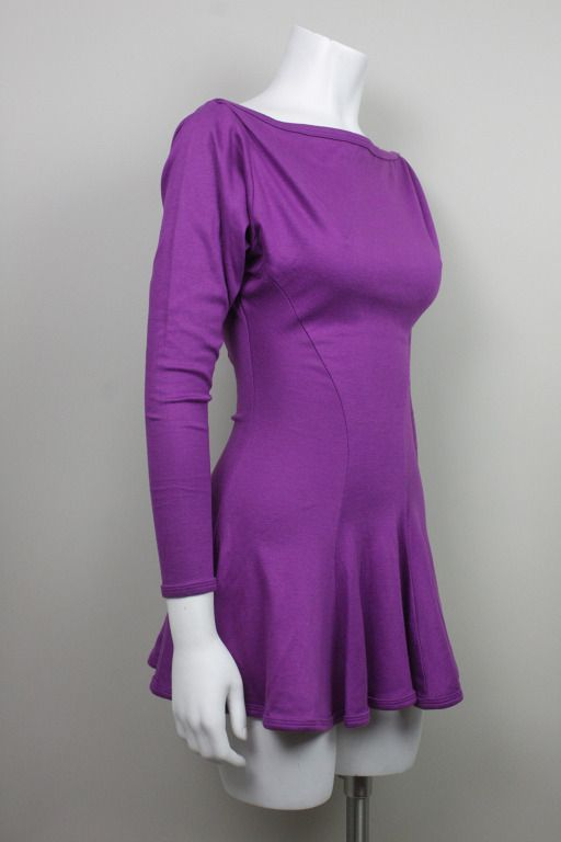 Betsey Johnson Punk Label Purple Mini Dress | From a collection of rare vintage day dresses at https://www.1stdibs.com/fashion/clothing/day-dresses/
