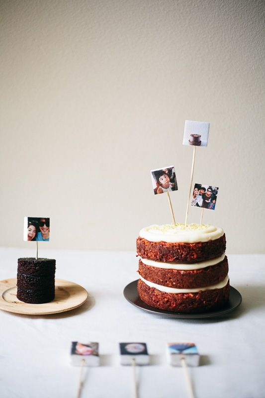 Cute idea! marshmallow instagram cake toppers | my name is yeh