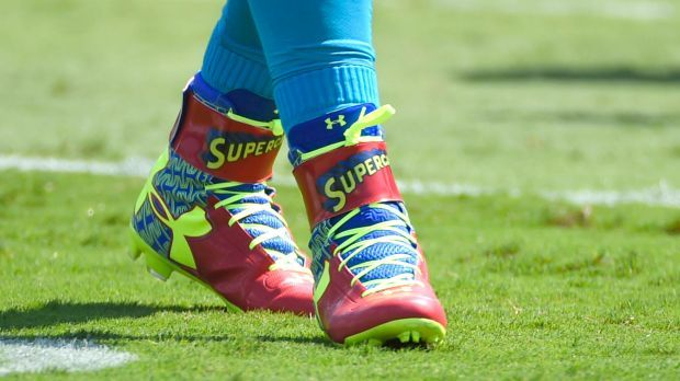 Cam Newton's Superman Cleats