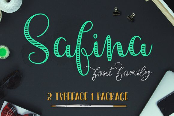 Safina Font Family (45% off) by JROH Creative on @creativemarket