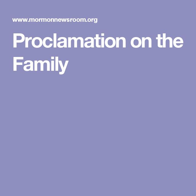 Proclamation on the Family