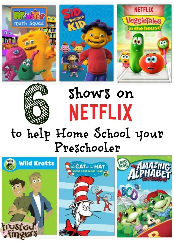 6 shows to help complement your home school curriculum for your preschooler with Netflix.