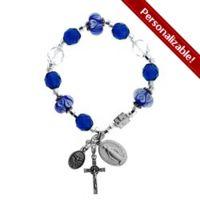 Pandora-style Miraculous Medal Rosary Bracelet