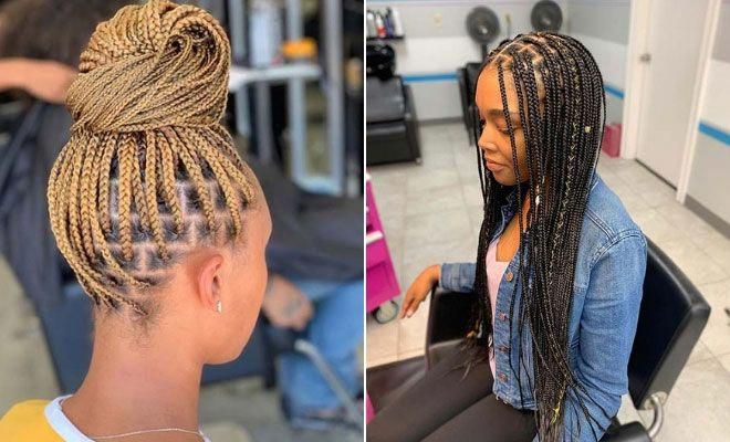 23 Pretty Small Box Braids Hairstyles To Try Stayglam Smallboxbraids In 2020 Box Braids Hairstyles Small Box Braids Small Braids