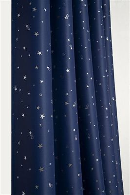 00ac6c276a65 Thermal Blackout curtains - Stars Thermal Blackout Ready Made Eyelet  Curtains (Navy).