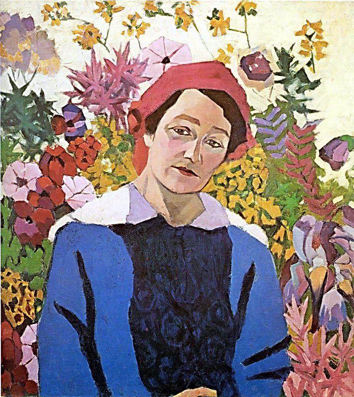 Portrait of M.P. Lentulova by Aristarkh Lentulov #postimpressionism