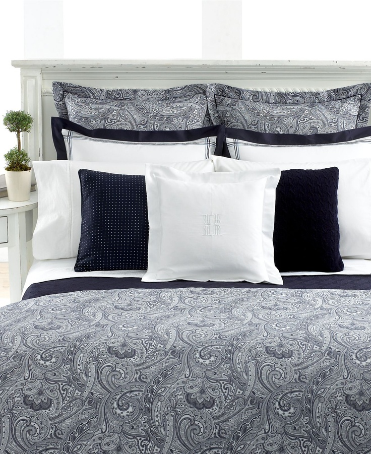 Lauren By Ralph Lauren Bedding Suite Paisley Navy