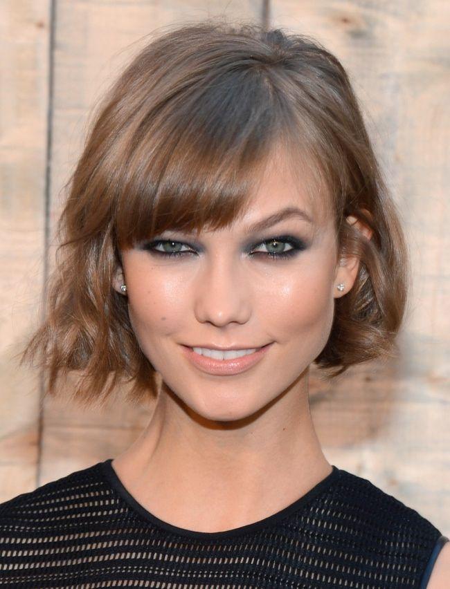 Hairstyles with Bangs: karlie kloss short hair bangs Beautiful Bangs