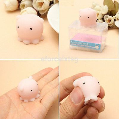 Portable Japan Mini Octopus Squishy Super Slow Rising Scented Stress Relieve Toy