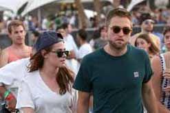 Kristen Stewart e Robert Pattinson in look hipster al Coachella Festival 2013